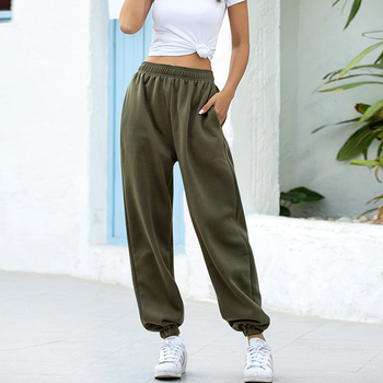 Rockmore Baggy Pencil Pants Women Plus Size Black Winter Wide Leg Sweat Pants Oversized Joggers Streetwear High Waisted Trousers 18
