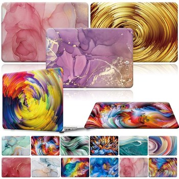 For Apple MacBook Air Pro Retina 1112 13 15 16/13.3 A1369  A1466 Pro 16 A2141/Air A2179 A1932-Painted Laptop Shell case cover laptop bag for macbook air 13 2018 model a1932 model laptop case sleeve cover for macbook air 13 3 mac a1369 a1466 notebook case