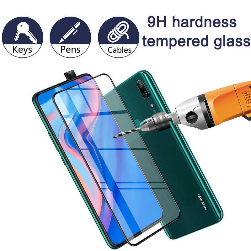 Vidro temperado 2 em 1 para huawei p smart z, protetor para câmera, huawei p smartz 9 película protetora h, protetor de tela