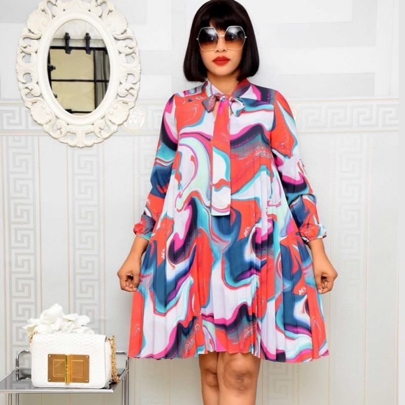 African Dresses For Women 2020 African Clothes Africa Dress Print Dashiki Ladies Clothing Ankara Plus Size Africa Women Dress