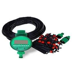 EASY 25M Diy automatyczny system nawadniania kropelkowego roślina wąż ogrodowy do podlewania zestawy z regulowanym Dripper podlewanie ogrodu zestawy w Zraszacze ogrodowe od Dom i ogród na