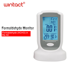 Formaldehyde Detector Meter HCHO Indoor Air Quality Monitor Gas Analyzer Tester with Air temperature and humidity testing broadlink a1 e air air switch quality detector filter testing air humidity pm2 5 app control by wifi infrared home automation