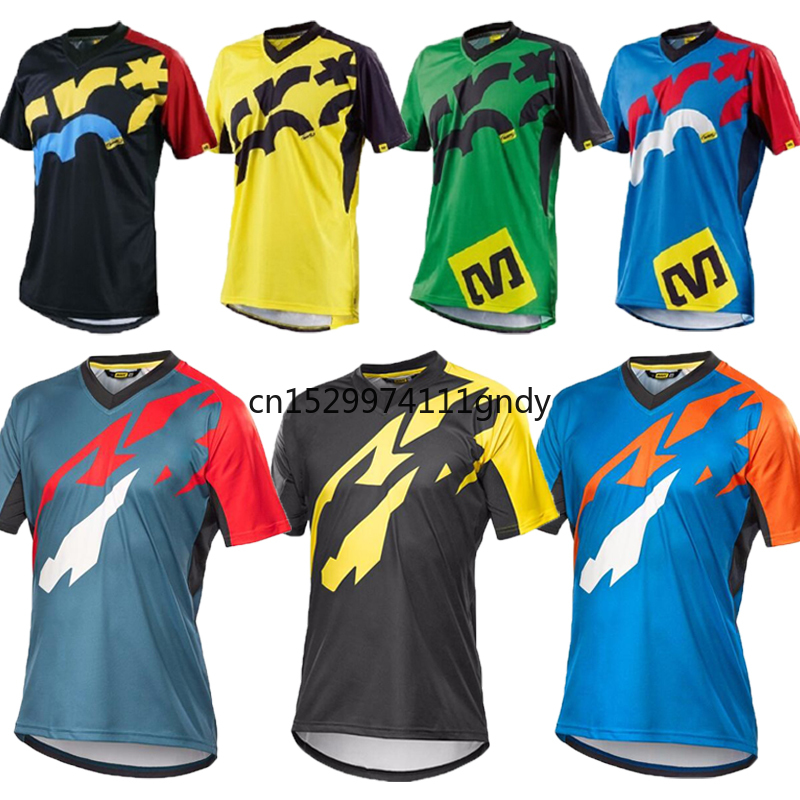 2020 Summer MAVIC Short Sleeve Mountain Bike Motocross Jersey BMX DH MTB Bicycle T-Shirt Clothes Sportswear Downhill Jersey