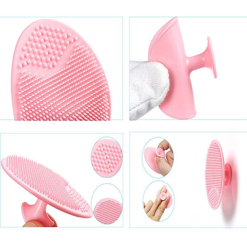 1 stück Rosa Cartoon Gesicht Reinigung Pinsel Silikon Gesichts Poren Geil Peeling Waschen Pinsel Hautpflege Kleine Krake Form