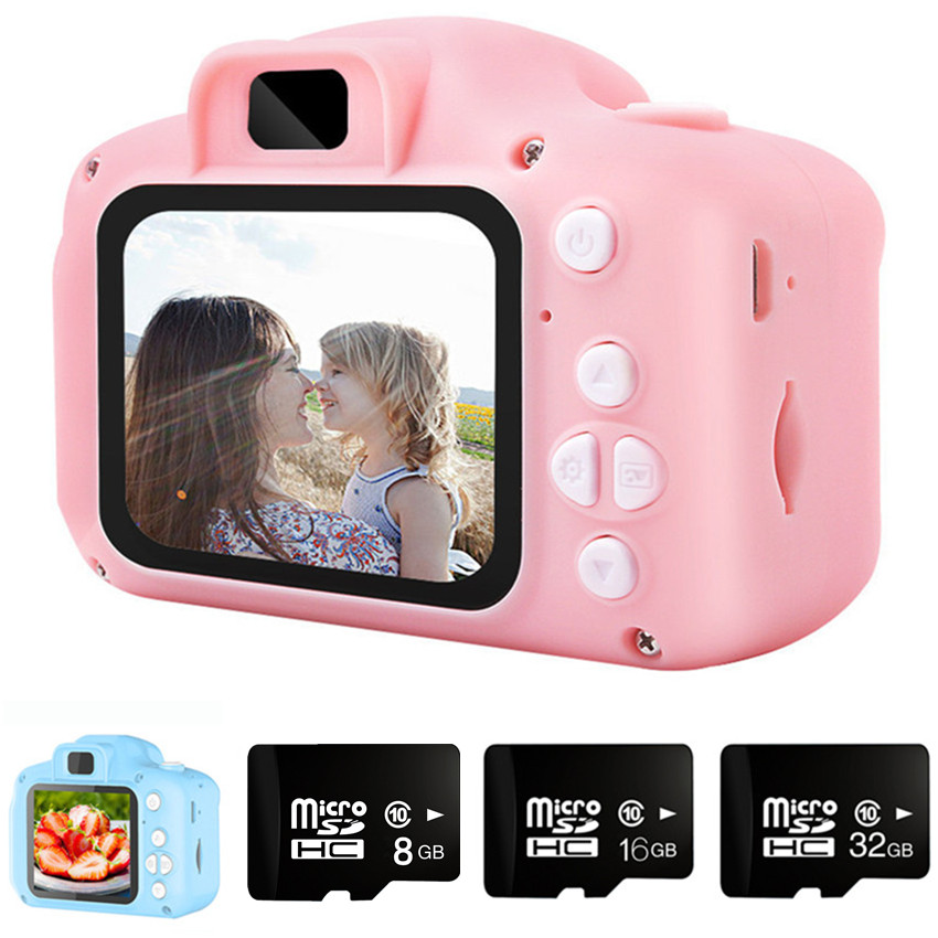Kids Camera 2000W Cute Children's Camera With 16GB TF Card Waterproof 1080P HD Screen Camera Video Toy Outdoor Photography 1