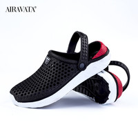 Black-Unisex Summer Beach Sandals Slipper Flat Anti-Slip