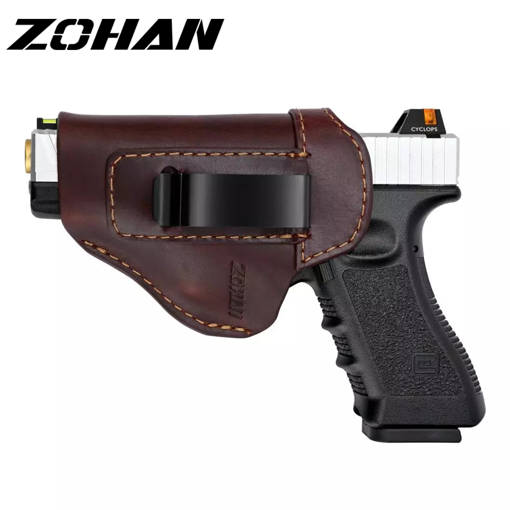 ZOHAN Defender Leather IWB Holster for S&W M&P Shield GLOCK 17 19 22 23 32 33 Springfield XD & XDS Universal Handguns