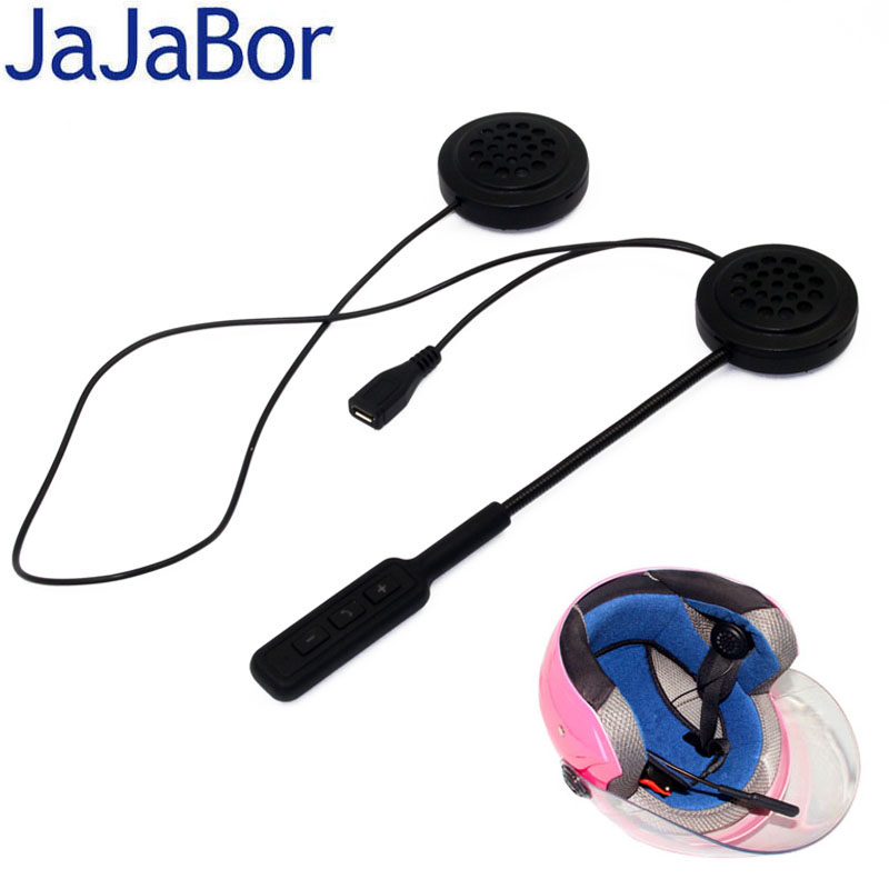 JaJaBor Wireless Bluetooth Headset Motorcycle Helmet Earphone Headphone Speaker Handsfree Music For MP3 MP4 Smartphone