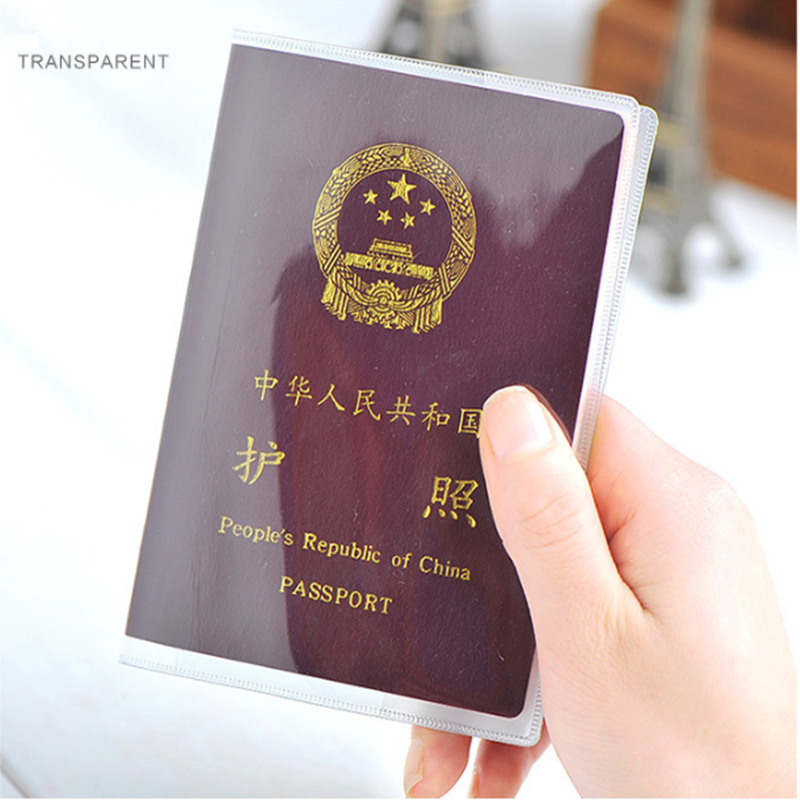 New Travel Waterproof Dirt Passport Holder Cover Wallet Transparent PVC ID Card Holders Business Credit Card Holder Case Pouch