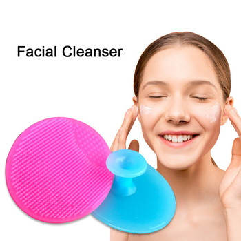 Facial Cleansing Brush Silicone Face Cleansing Brush Facial Cleanser Deep Cleaning Brush Blackhead Exfoliating Skin Care Tool image