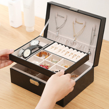 Jewelry-Box-Storage-Box Earrings Ring-Display-Case Bracelet Necklace Portable Double-Layer