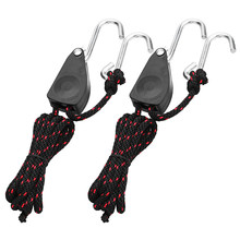 Reflector Rope Ratchet Adjustable 2pieces CLAITE Hangers-Tools Grow-Light 1-Pack of 1pair