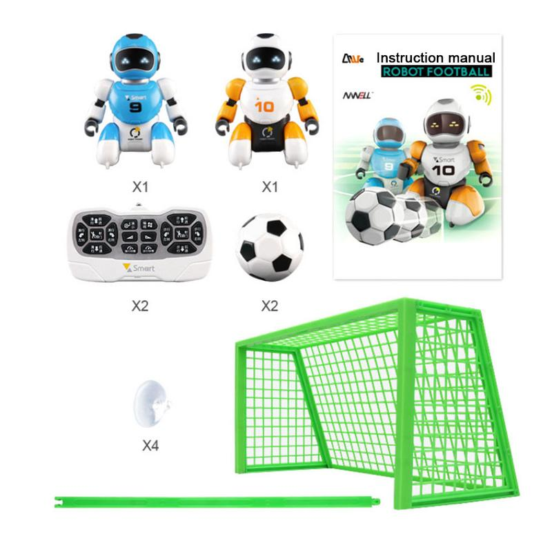 2pcs Soccer Robot Smart Remote Control Singing And Dancing USB Charging Simulation RC Intelligent Football Robots Toys image