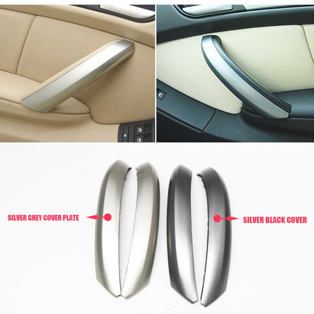 Automobile Exterior Decoration Parts Inner Handle Door Panel Pull Trim Cover Front Left Side For Bmw X5 E53 1999 2006 Aliexpress