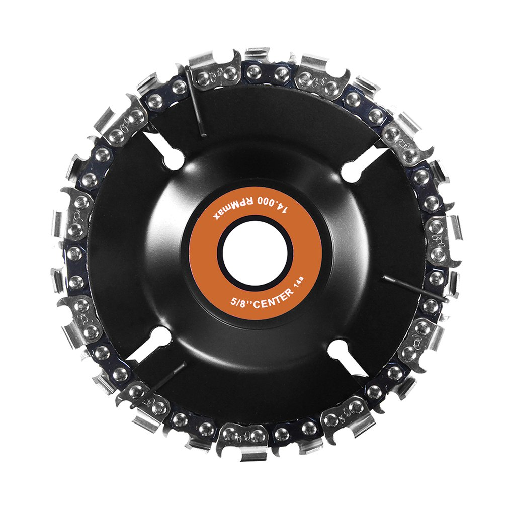 4Inch Chain Plate Angle Grinding Wheel Wood Carving Disc Chain Woodworking Saw Blade Cutting Blade Angle Mill Chain Tray