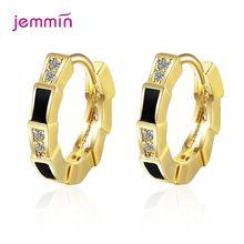 Aaa циркон модные корейские 925 пробы серебряные серьги кольца