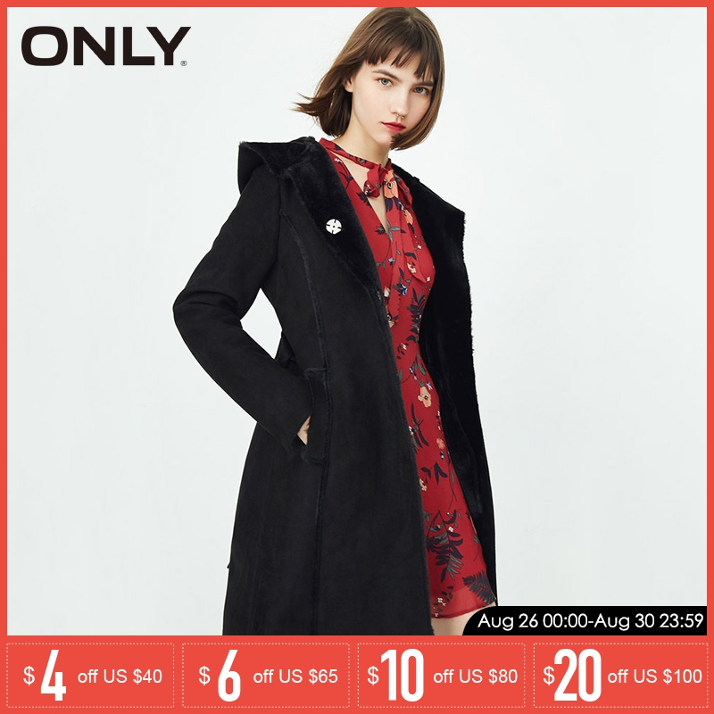 ONLY Winter New Suede Leather Cotton Coat Parka | 118122505