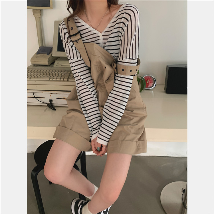 H02e8d0ff8aca4e08b488a4f7b65c0e31C - Summer Loose Fitting Wide Leg Solid Overall Shorts