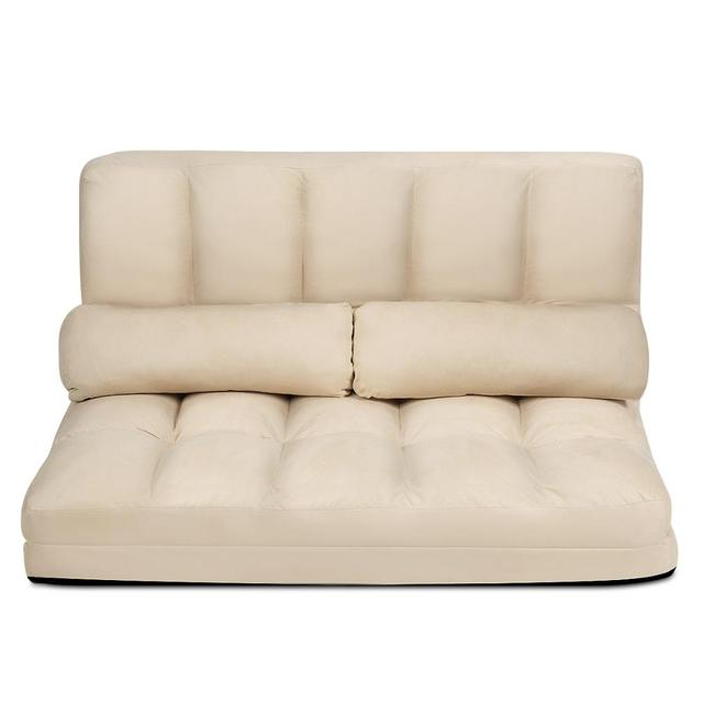 Foldable Floor Sofa Bed w/ 6-Position  6