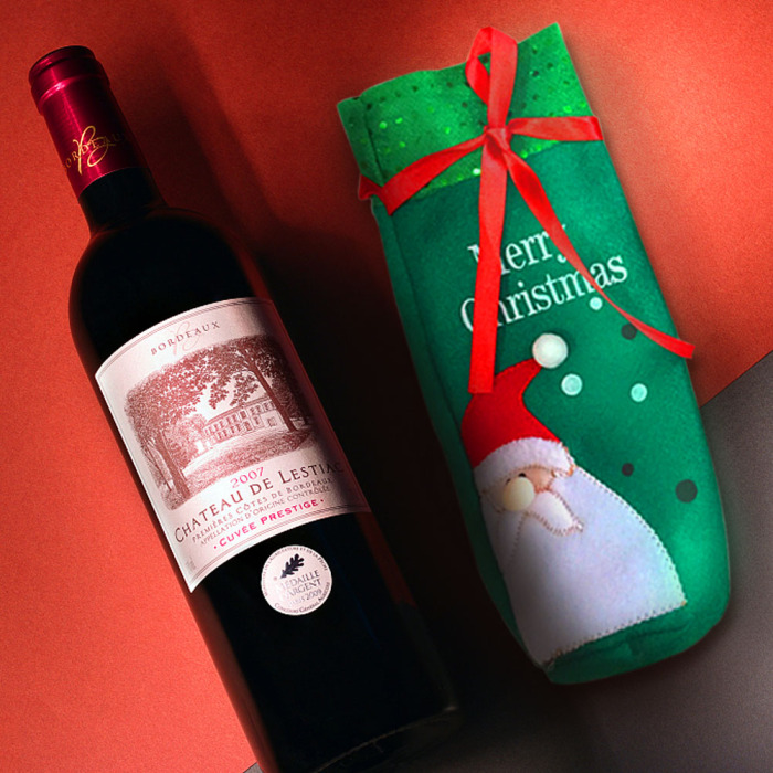 VS GLOBAL Christmas Wine Bottle Covers one red one Green 2pcs Party Hotel Decorations
