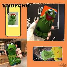 YNDFCNB KermitกบตลกCutePhoneกรณีSamsungaNote10lite A81 01 11 31 Huaweihonor8A 9X Redmi9 Note9 8A OppoReno2 3pro Ace(China)