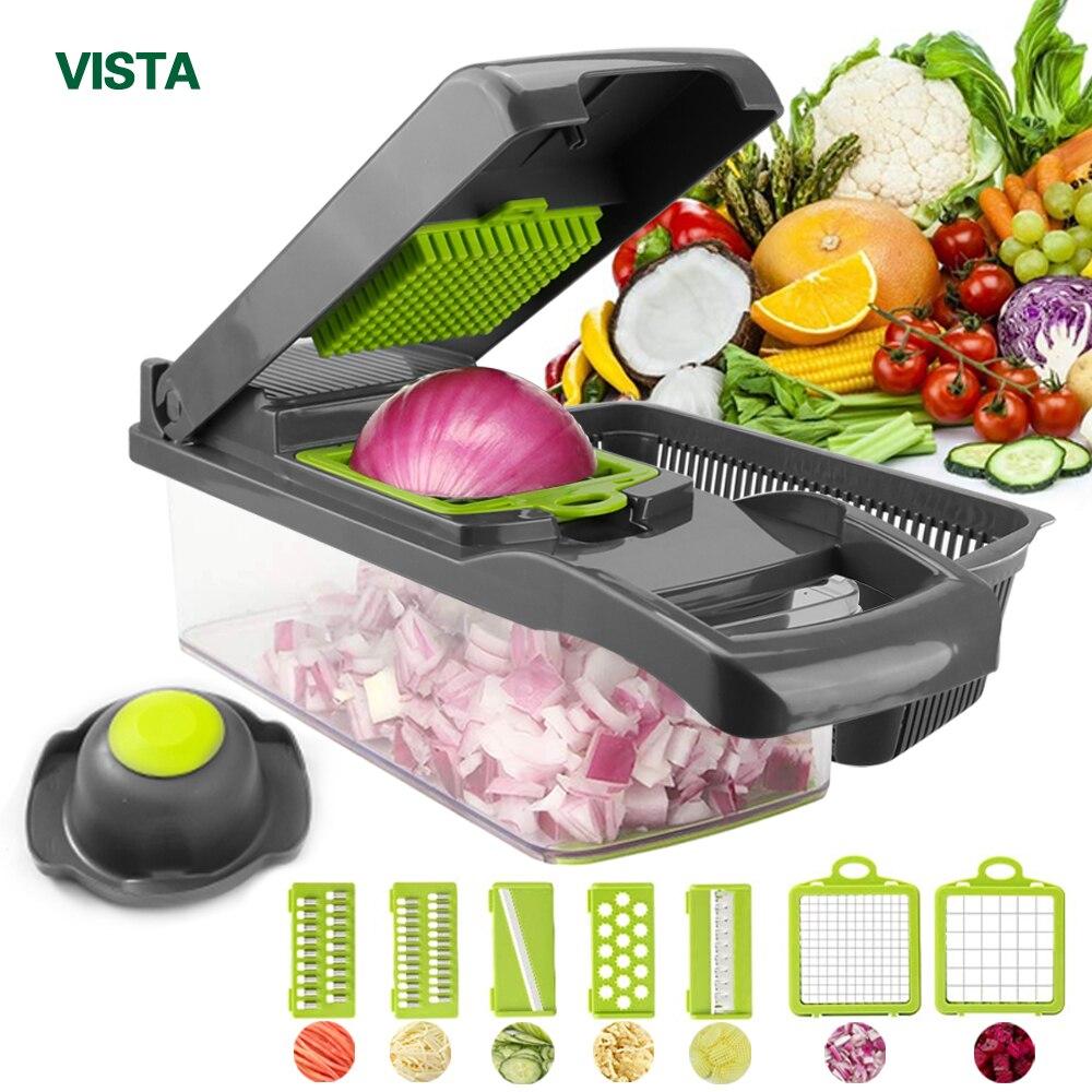 Coupe-légumes accessoires de cuisine Mandoline trancheuse coupe fruits pomme de terre éplucheur carotte fromage râpe légumes trancheuse