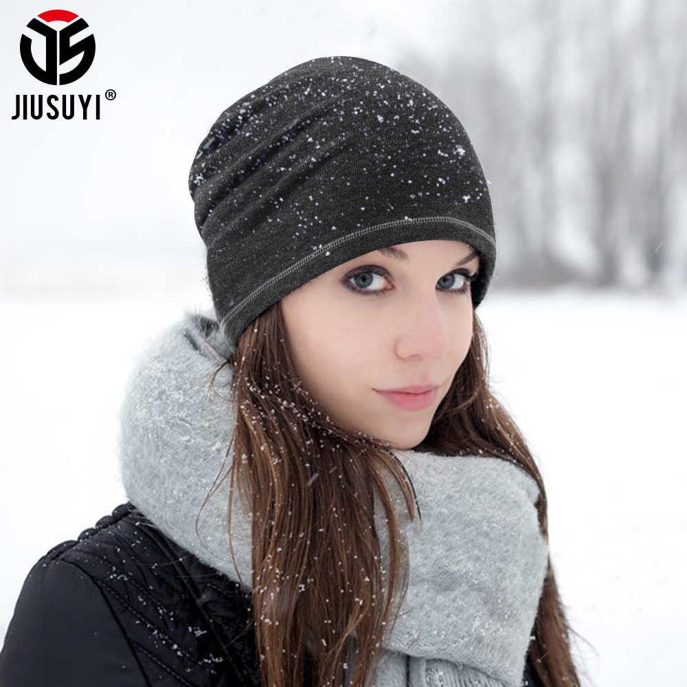 الطقس البارد الدافئة قبعة حريمي الشتاء الصوف الحراري مترهل عمامة Skullies قبعة تمتد موضة على الجليد الهيب هوب الرجال النساء جديد