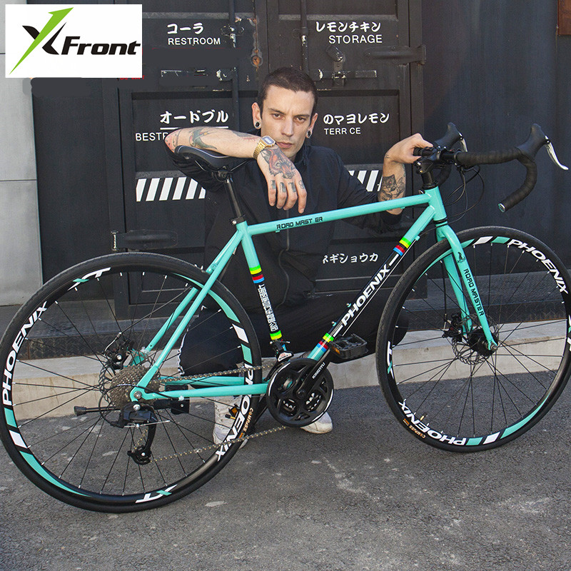 New Brand Road Bike Carbon Steel Frame 21/27 Speed Microshift/SHIMAN0 Shift Cycling Outdoor Sports Bicicleta image
