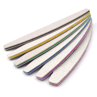 6pc Mix Nail Files Strong Sandpaper Washable Nails Buffer Emery Board 80/100/150/180/240/320 Grit Lime a ongle Manicure Polisher