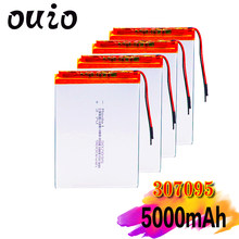 Bateria esperta do li-íon dos oradores mp3 da casa 5000 mah 3.7 v 307095 do polímero para dvr, gps, mp3,mp4, banco de potência de dvd, orador