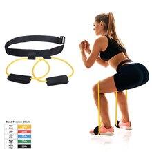 Fitness Resistance Bands Set Booty for Butt Legs Muscle Training Adjust Waist Belt Elastic Pedal Exerciser
