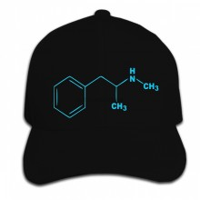 Print Custom Baseball Cap Hip Hop Blue Molecule Funny Breaking Retro Bad DEA Summer Men Hat Peaked cap(China)