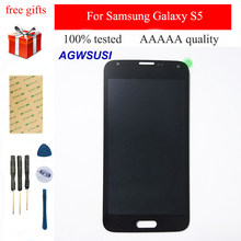 LCD Display Panel Module + Touch Screen Digitizer Sensor Assembly For Samsung Galaxy S5 G90G900A G900P G900T G900V G900F(China)