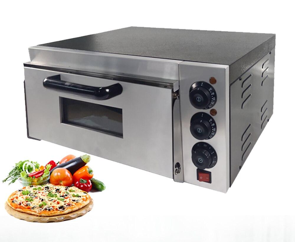 Four à Pizza électrique Commercial avec la Machine de four à pain monocouche d'acier inoxydable de contrôle de température pour la restauration de café