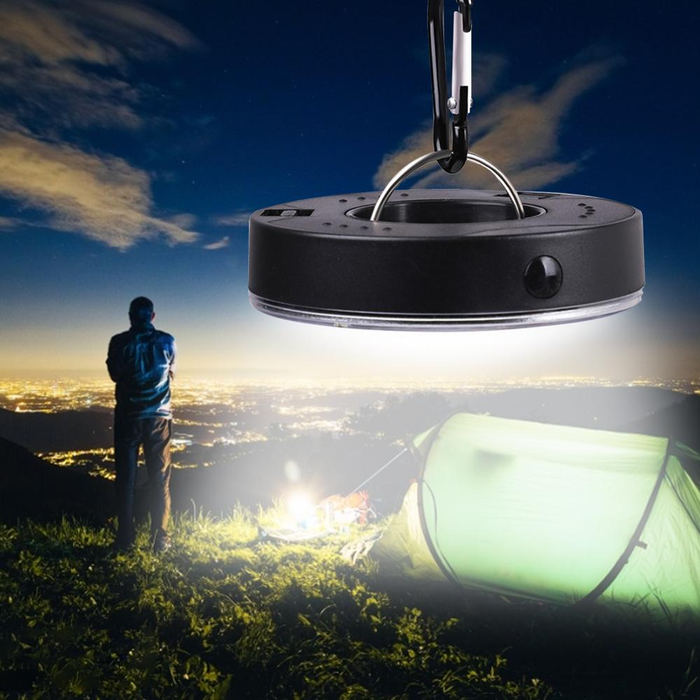 Portable LED Camping Light 3 Modes COB Clip Light Hook Flashlight Tent Emergency Lamp Hanging Lantern Nightlight