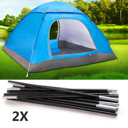 Tent Pegs Camping Arc Equipment 7mm 326/340/344/392cm Fiberglass Stick Outdoor Camping Tents Accessories Tent Replacement 2PC