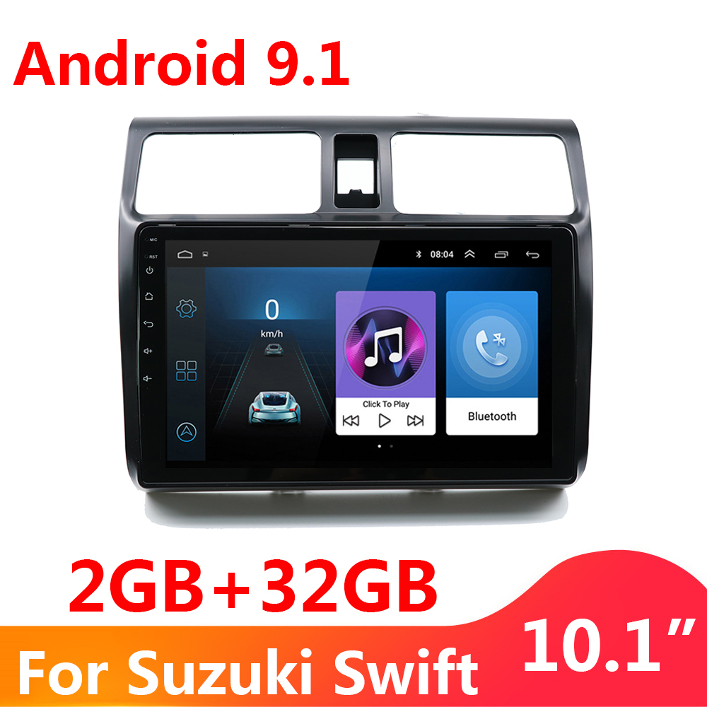 2G+32G 2 Din Android 9.1 Car DVD Multimedia Player 10.1