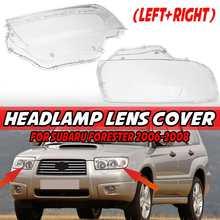 2pcs Car Front Headlight Headlamp Lens Cover Trim Head Light Shell ABS For Subaru For Forester 2006-2008 SU2503119 SU2502119