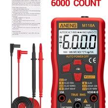 Multimeter-Tester Flashlight Tranistor-Meter Data-Hold Digital NCV True Rms 6000counts