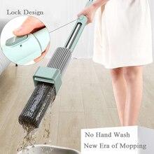 ฟรีสามารถStand Mopสำหรับล้างชั้น 180 MagicบีบFLAT Mop 34 ซม.ฟองน้ำขนาดใหญ่Lazy Mopทำความสะอาดบ้านไม้กระเบื้อง