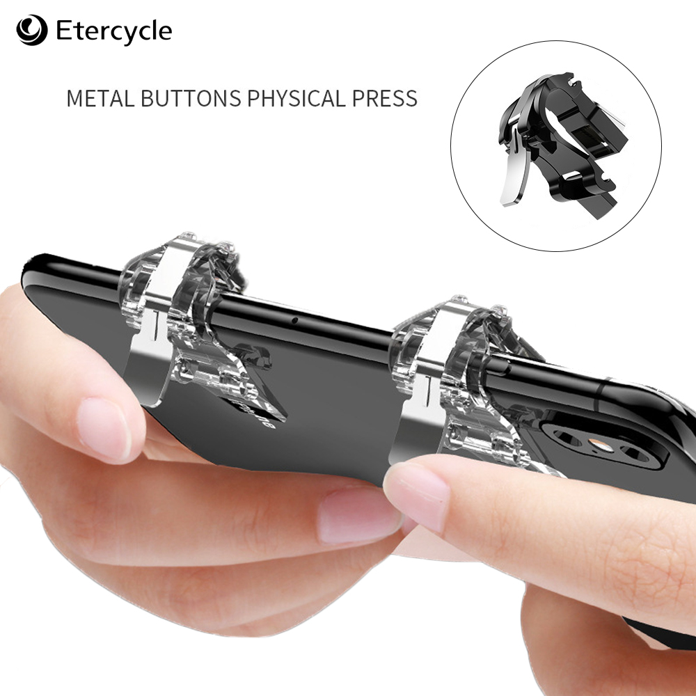 Metal Smart Phone Mobile Gaming Trigger for PUBG Gamepad Fire Button L1 R1 Shooter Pubg Controller Game Handle PUGB accessories