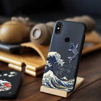 Pour Xiao mi mi 9 SE mi x 3 5G 2S 2 rouge mi Note 7 8 Pro étui 3D Relief mat couverture souple pour Xiao mi mi x 3 5G housse LICOERS étui Funda