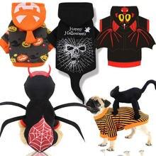 Pet Sweater Halloween Costumes Cosplay Novelty Festive-Uniform Pumpkin Spider-Witch