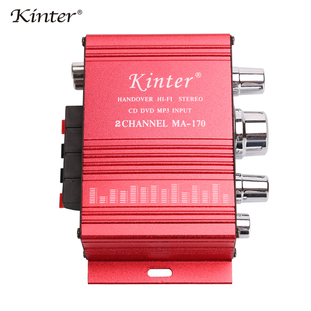 kinter mini audio amplifier for speaker 2 channels MA-170 home Motorcycle car amplifiers stereo sound DC12V power supply cable