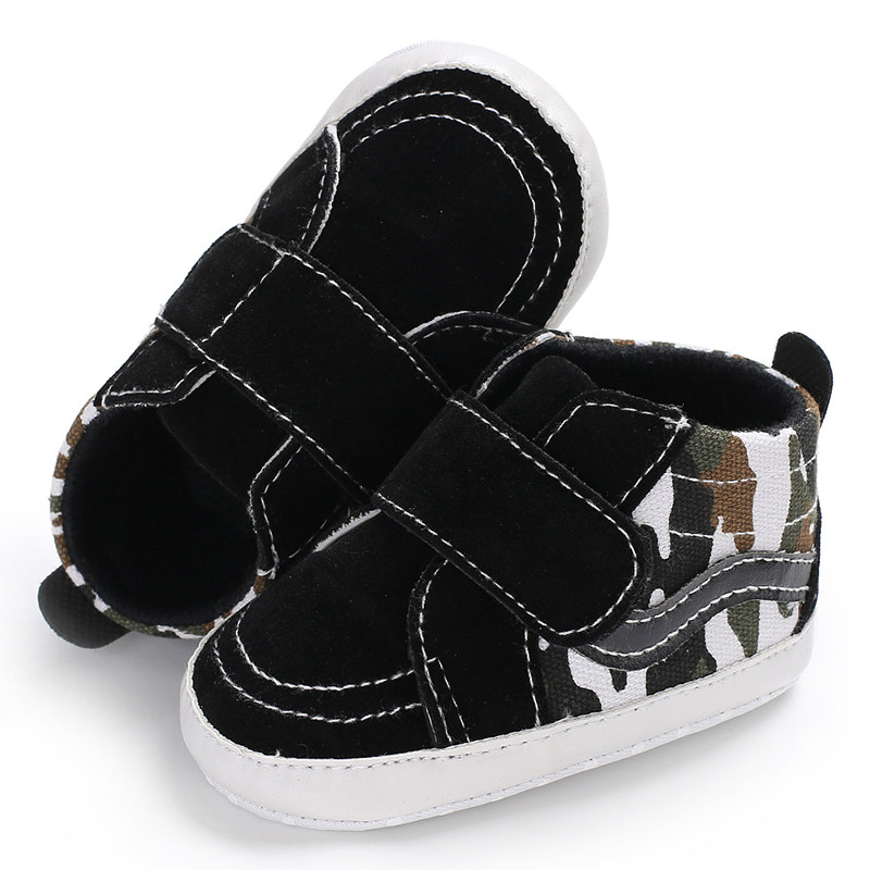 Infant Newborn Baby Boy Girl Canvas Shoes Prewalkers Autumn Soft Sole Anti-slip Sneakers Camouflage