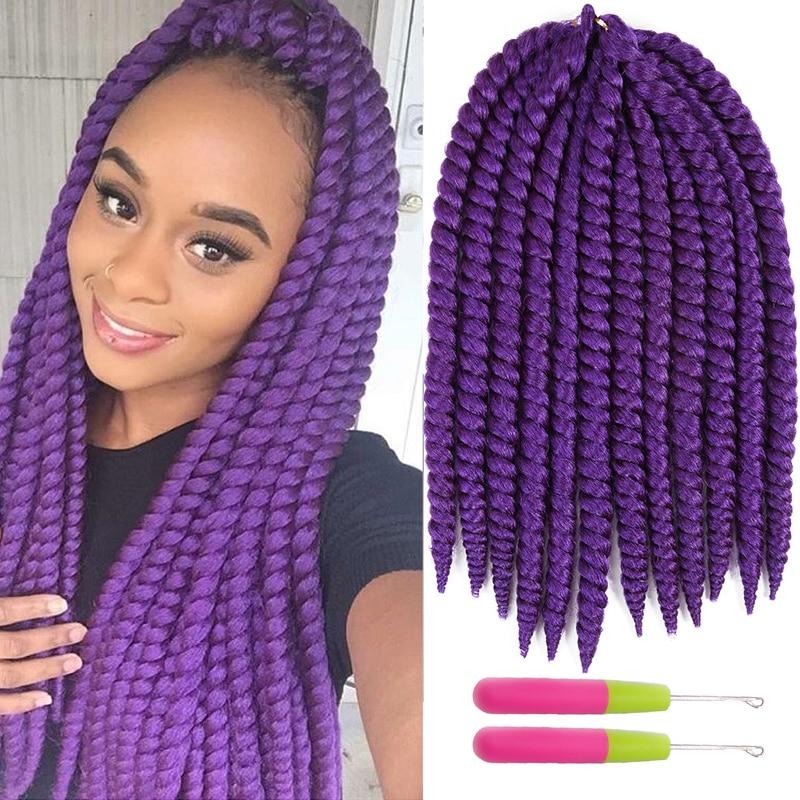 Auburn Blonde Color Havana Mambo Twist Hair Extensions 12strands Synthetic Crochet Jumbo Braid Hair 12/14inch X-TRESS Dreadlocks