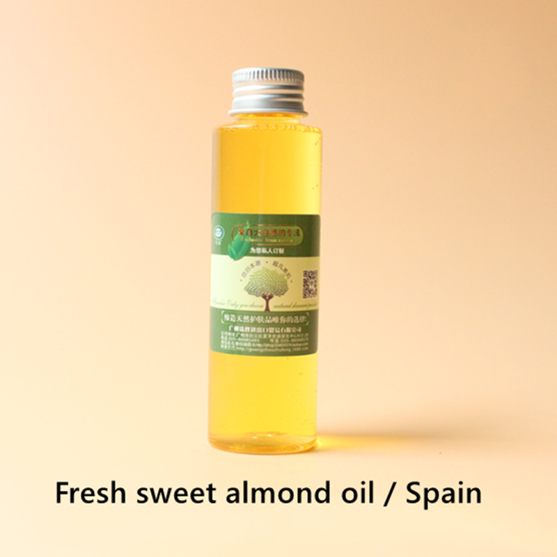 Купить с кэшбэком Delicate sweet almond oil Spain, good skin affinity, moisturize the skin, soften the skin, massage the whole body