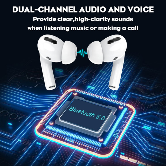 Aibevi TWS Wireless Earphones Bluetooth 5.0 ANC Active Noise Canceling Support Headset Pop-up Wireless Charging In-ear Earbuds