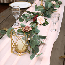Long Chiffon Table Runner for Wedding Party Banquets Bridal Home Table Arches Cake Table Decoration (68*300cm)