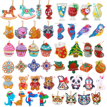 4pcs DIY Diamond Painting Keychain Pendant Full Drill Special Shaped Embroidery Cross Stit Pendants